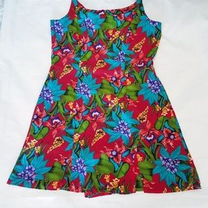 John Roberts Floral Sleeveless Dress Sz 10